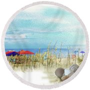 Monday Afternoon Round Beach Towel