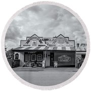 Round Beach Towel featuring the photograph Monegeetta General Store by Linda Lees