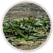 Monet At Giverny - 2 Round Beach Towel