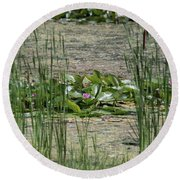 Monet At Giverny - 3 Round Beach Towel