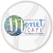 Monet Cafe' Products Round Beach Towel