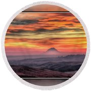 Monet Morning Round Beach Towel