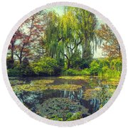 Monet's Afternoon Round Beach Towel