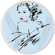 Monique Variant 2 Round Beach Towel