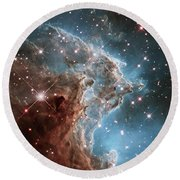 Round Beach Towel featuring the photograph Monkey Head Nebula by Marco Oliveira