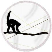 Monkey On A Wire Round Beach Towel