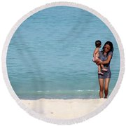 Round Beach Towel featuring the photograph Monocee by Jez C Self