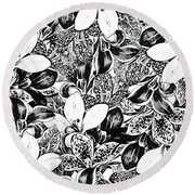 Monochrome Round Beach Towel