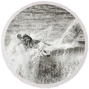 Monochrome Wipeout Round Beach Towel