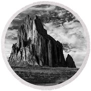 Monolith On The Plateau Round Beach Towel