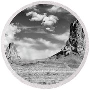 Monoliths Round Beach Towel