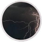 Monsoon Lighting Storm Round Beach Towel