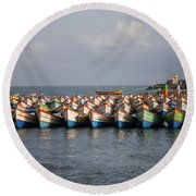 Monsoon Mooring Round Beach Towel