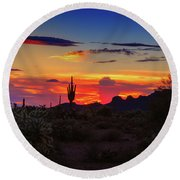 Monsoon Sunset Round Beach Towel