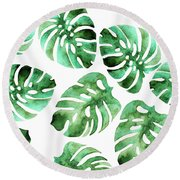 Monstera Round Beach Towel