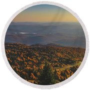 Mont Tremblant Summit Panorama Round Beach Towel