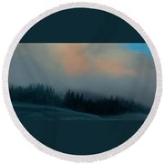 Round Beach Towel featuring the photograph Mont Tremblant Vista by Jim Vance