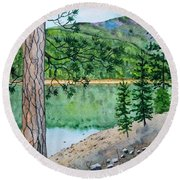 Montana - Lake Como Round Beach Towel