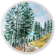 Montana Lake Como Trail Round Beach Towel
