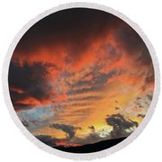 Round Beach Towel featuring the photograph Montana October Sunset by Joseph J Stevens
