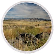 Montana Route 200 Round Beach Towel