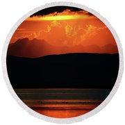 Montana Sunsets- Teton County Round Beach Towel