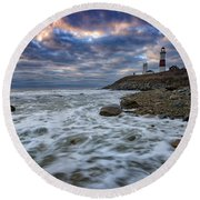Montauk Morning Round Beach Towel