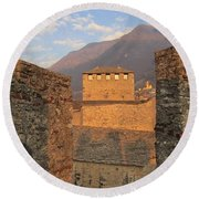 Montebello - Bellinzona, Switzerland Round Beach Towel