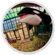 Monterey Bay Aquarium Killer Whale Round Beach Towel