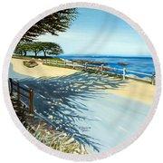 Monterey Shadows Round Beach Towel