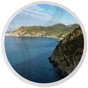 Monterosso And The Cinque Terre Coast Round Beach Towel
