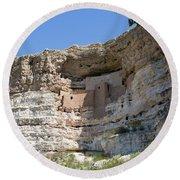 Montezuma Castle National Monument Arizona Round Beach Towel