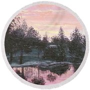 Montgomery Pond Round Beach Towel