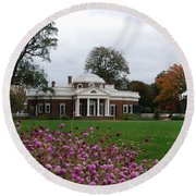 Round Beach Towel featuring the photograph Monticello by Eric Liller