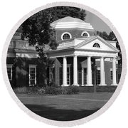Round Beach Towel featuring the photograph Monticello IIi by Eric Liller