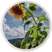 Monticello Sunflower Round Beach Towel