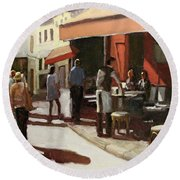 Montmarte Cafe Round Beach Towel