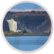Montmorency Falls Round Beach Towel