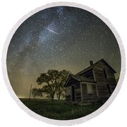 Round Beach Towel featuring the photograph Montrose Orionid by Aaron J Groen