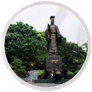 Monument To Emperor Le Thai To Round Beach Towel