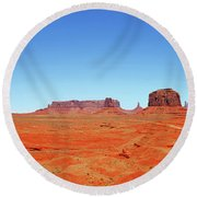 Round Beach Towel featuring the photograph Monument Valley Two by Paul Mashburn