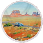 Monument Valley Vintage Round Beach Towel