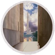 Monuments Sunrise Round Beach Towel
