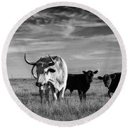 Moo Round Beach Towel