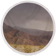 Moods Of Death Valley National Park Round Beach Towel