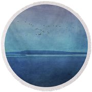 Moody  Blues - A Landscape Round Beach Towel