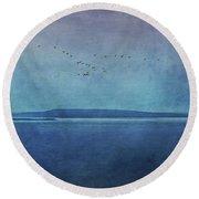 Moody  Blues - A Landscape Round Beach Towel