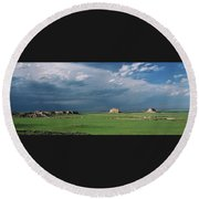 Moody-buttes Round Beach Towel