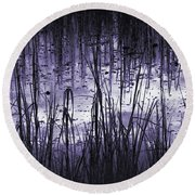 Round Beach Towel featuring the photograph Moody Mud by Laura Ragland