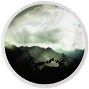 Round Beach Towel featuring the photograph Moody Weather by Mimulux patricia no No